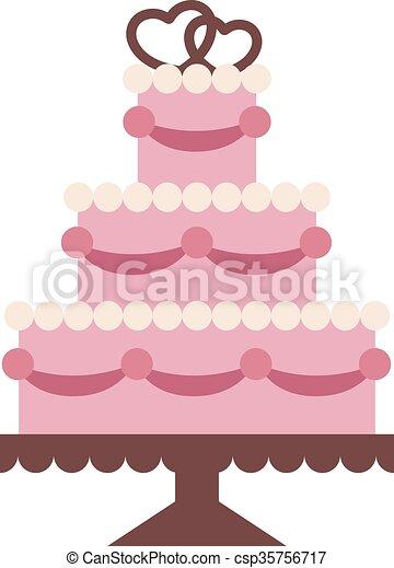 ケーキ 背景 隔離された イラスト 結婚式 かわいい スタイル