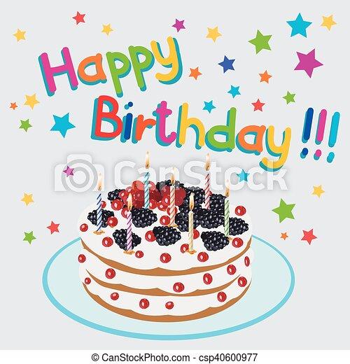 ケーキ Birthday イラスト 美しい 蝋燭 イラスト バースデー