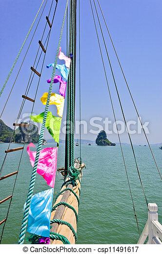 ケーブル, 帆, rolled-up - csp11491617
