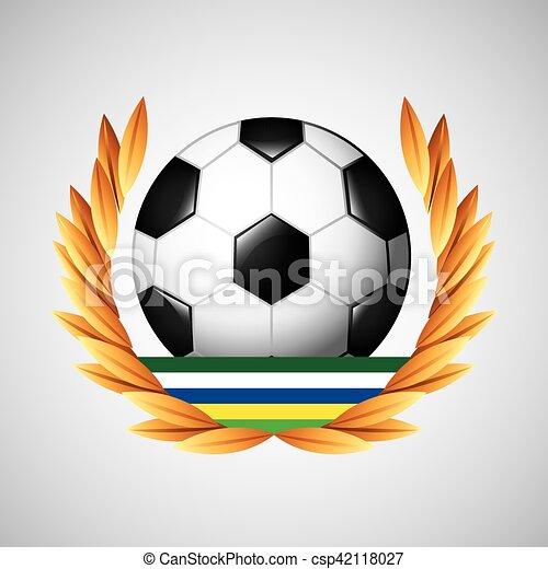 ゲーム, オリンピック, フットボール, 紋章 - csp42118027