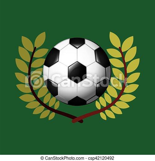 ゲーム, オリンピック, フットボール, 紋章 - csp42120492