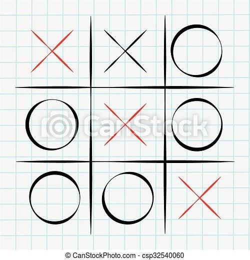 ゲーム, tac, tic, つま先 - csp32540060
