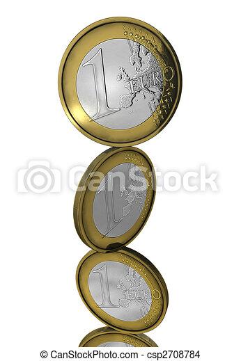 コイン, バランスをとる, 隔離された, ユーロ - csp2708784