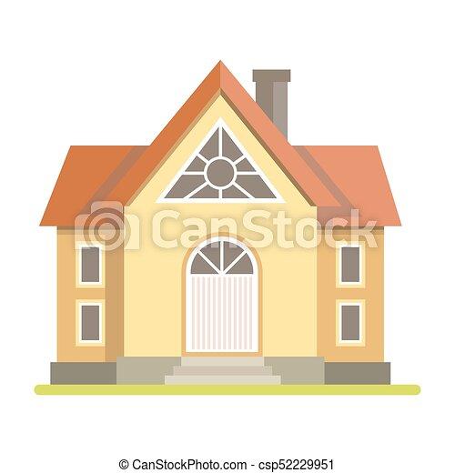 コテッジ, かわいい, れんが造りの家 - csp52229951