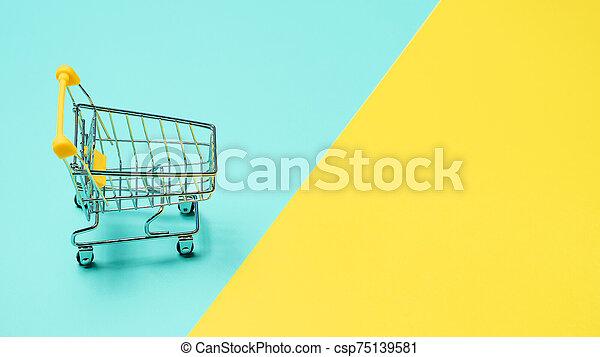 コピースペース, 裏返された, 空, カート, 買い物 - csp75139581