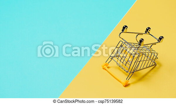 コピースペース, 裏返された, 空, カート, 買い物 - csp75139582