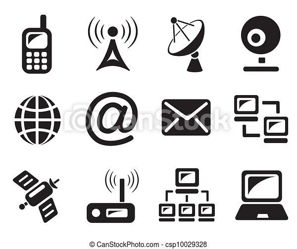 コミュニケーション, アイコン - csp10029328