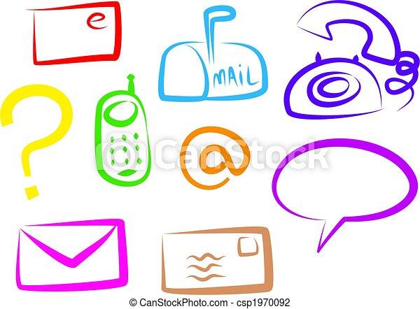 コミュニケーション, アイコン - csp1970092