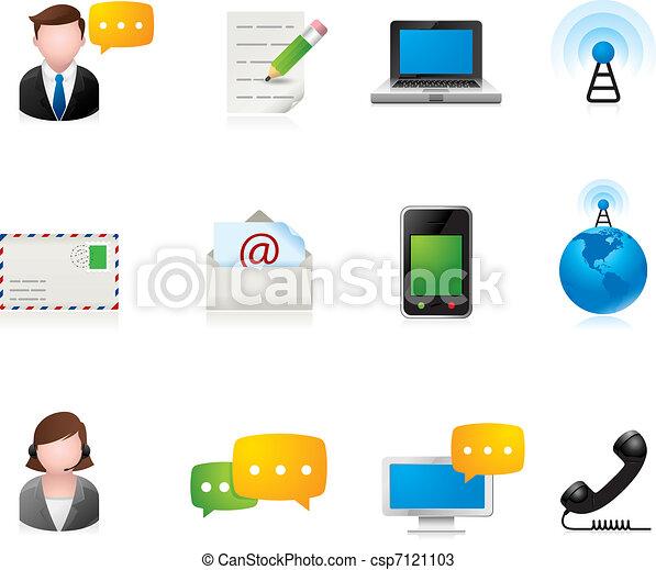 コミュニケーション, アイコン, -, 網 - csp7121103