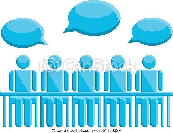 コミュニケーション, シンボル, ミーティングの人々 - csp51130829