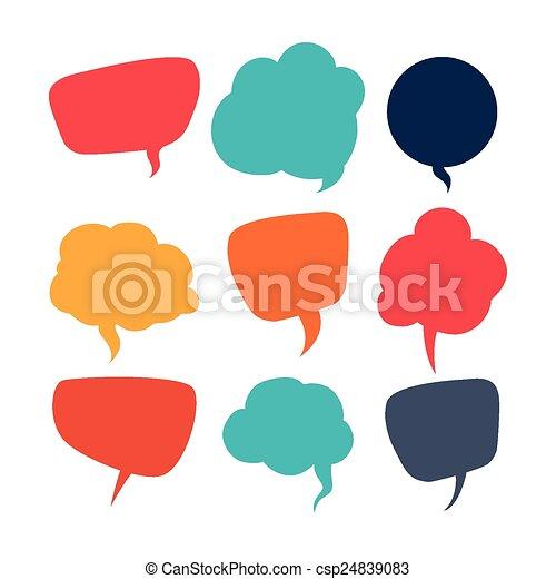 コミュニケーション, スピーチ, 泡 - csp24839083