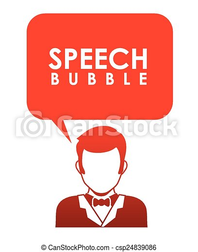 コミュニケーション, スピーチ, 泡 - csp24839086