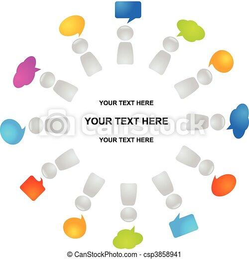コミュニケーション, 世界的である - csp3858941