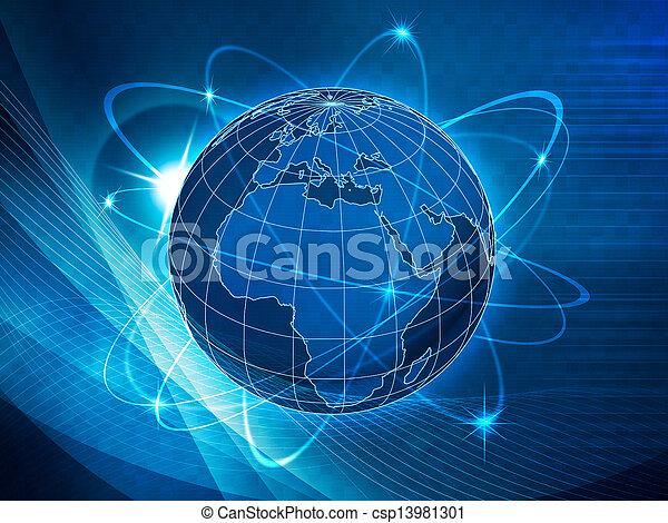 コミュニケーション, 世界的である, 交通機関, 背景 - csp13981301