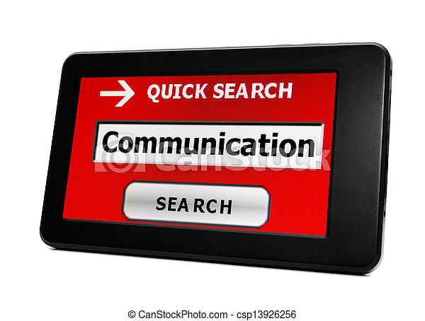 コミュニケーション, 捜索しなさい - csp13926256