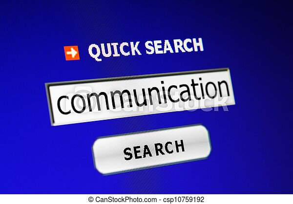 コミュニケーション, 捜索しなさい - csp10759192