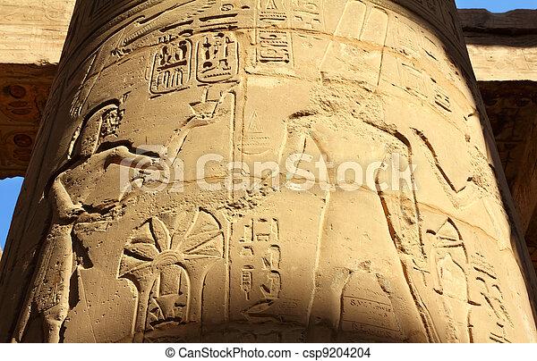 コラム, エジプト, イメージ, 古代, hieroglyphics - csp9204204
