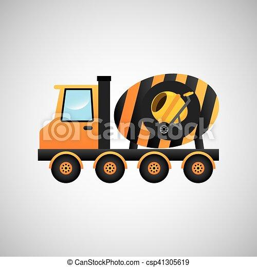 コンクリート, グラフィック, トラック, ミキサー, アイコン - csp41305619