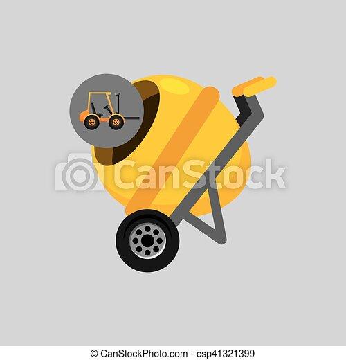 コンクリート, グラフィック, トラック, ミキサー, アイコン - csp41321399