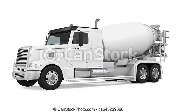 コンクリート, トラック, ミキサー - csp45239666