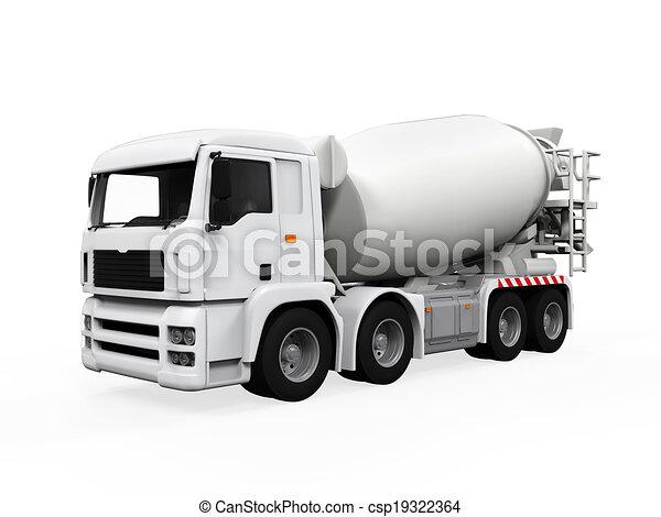コンクリート, トラック, ミキサー - csp19322364