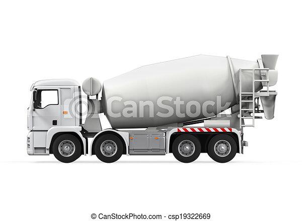 コンクリート, トラック, ミキサー - csp19322669