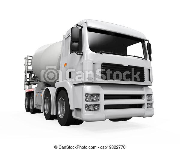 コンクリート, トラック, ミキサー - csp19322770