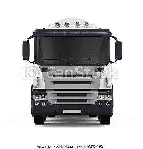 コンクリート, トラック, ミキサー - csp28134957
