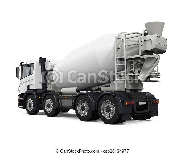 コンクリート, トラック, ミキサー - csp28134977