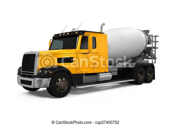 コンクリート, トラック, ミキサー - csp37400752