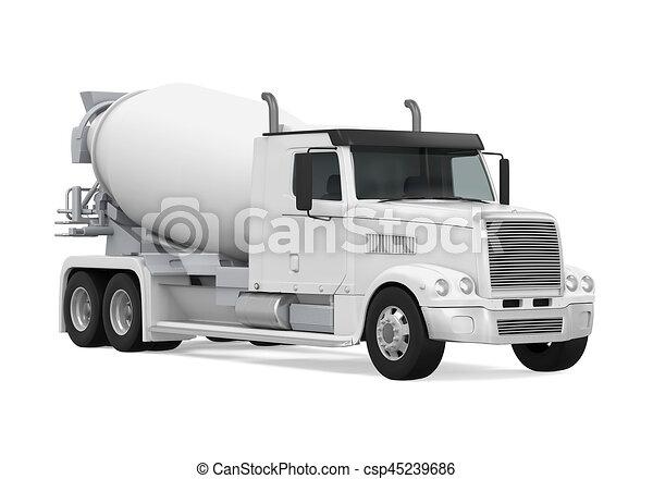 コンクリート, トラック, ミキサー - csp45239686