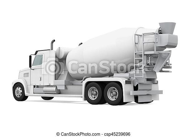 コンクリート, トラック, ミキサー - csp45239696