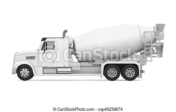 コンクリート, トラック, ミキサー - csp45239674