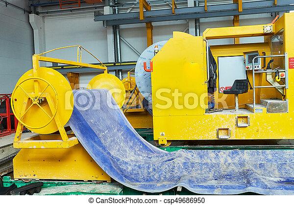 コンクリート, slabs., 製造, 生産, 補強された - csp49686950