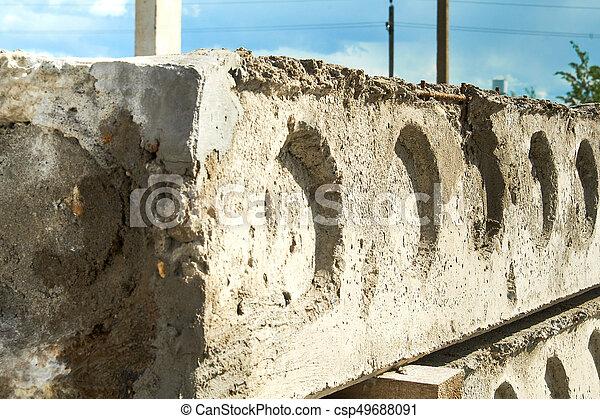 コンクリート, slabs., 製造, 生産, 補強された - csp49688091
