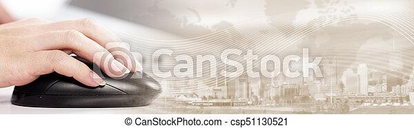コンピュータマウス, 手 - csp51130521