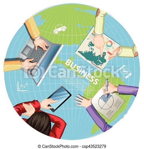 コンピュータ, ビジネス, 働いている人達 - csp43523279