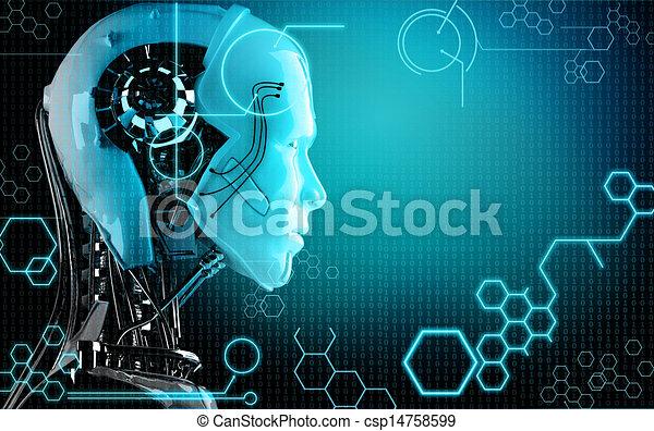 コンピュータ, ロボット, 背景 - csp14758599