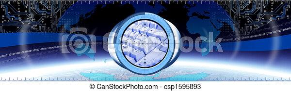 コンピュータ, 旗, キー - csp1595893