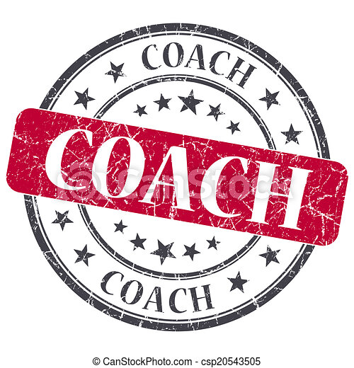 コーチ, グランジ, 切手, 型, 隔離された, textured, 赤 - csp20543505