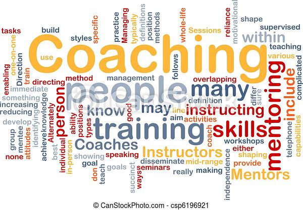 コーチ, 概念, 背景 - csp6196921