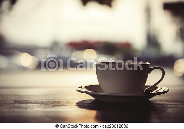 コーヒーカップ, latte - csp20012686