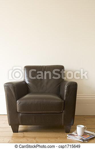 コーヒーマグ, それ, ∥横に∥, 雑誌, 椅子 - csp1715649