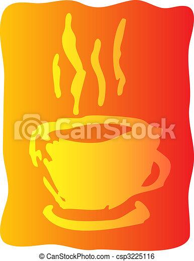 コーヒー, イラスト, カップ - csp3225116
