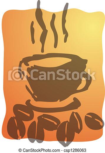 コーヒー, イラスト, カップ - csp1286063