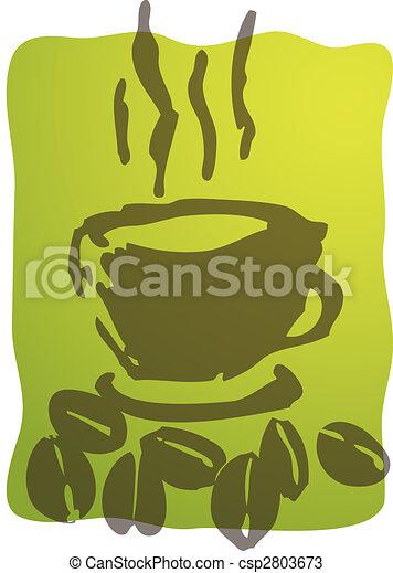 コーヒー, イラスト, カップ - csp2803673