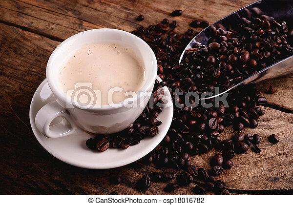 コーヒー, カプチーノ, -, ミル, イタリア語 - csp18016782