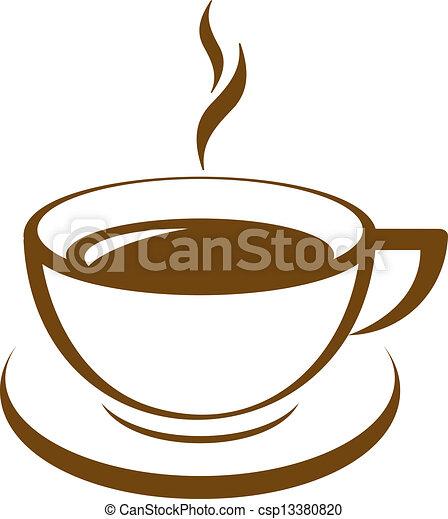コーヒー, ベクトル, アイコン, カップ - csp13380820