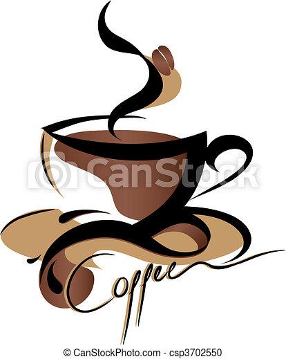 コーヒー, 印 - csp3702550
