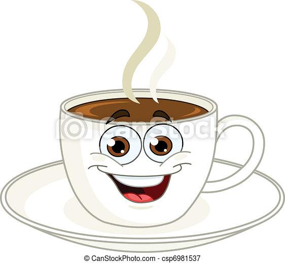 コーヒー, 漫画, カップ - csp6981537